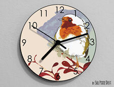 Sparrow Watercolor Wall Clock - Kids Nursery Room,Teens Room - Wall Clock
