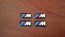 4 Adesivi Stickers 3D M power BMW E46 E53 E60 E87 E90 Logo Fregio Cerchi in lega