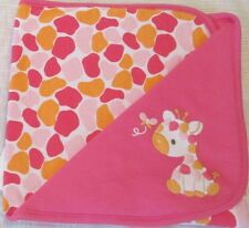 NWT Gymboree Outlet Girls Jolly Giraffe Reversible Blanket 27 x 27 Baby