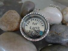 Floating Locket Necklace in loving Memory of baby memorial custom personalized