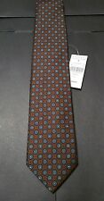 Drakes London Tie NWT $165 Mint 100% Silk Exclusive Handmade in England Barneys
