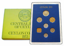 1971 Ceylon Sri Lanka Proof Coin Set Royal Mint