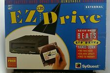 SyQuest EZ135 135MB External Backup Hard Drive Removable Cartridge Original Box