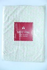 Amy Coe Pink Green Flowers Tiny Applause Baby Blanket Limited Edition