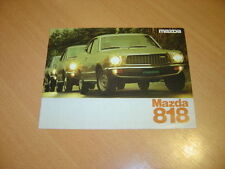 CATALOGUE Mazda 818 de 1976