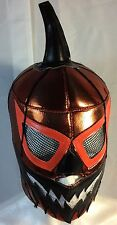 EVIL PUMPKIN( Metallic Orange Fabric) WRESTLING-LUCHADOR MASK! AWESOME MASK!!