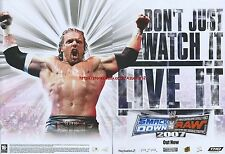 "Smack Down Vs Raw 2007 ""Out Now"" 2006 Magazine 2 Page Advert #4884"