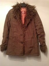Girls ��Quiksilver Teenies �� Brown Coat, Age 10 Years Old, Faux Fur Collar