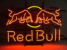 RED BULL ENERGY DRINK Real Glass Beer Bar Pub Store Display Neon Light Sign17*14
