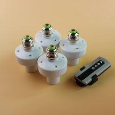 4 Pcs Wireless Remote Control E27 Screw Light Lamp Bulb Holder Cap Socket Switch