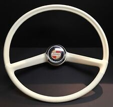 JEEP GLADIATOR STEERING WHEEL WHITE RED GOLD BLACK HORN BUTTON CAP WAGONEER