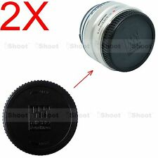 2x Rear Lens Cap Cover for Panasonic Lumix Micro Four Thirds H-H H-NS series