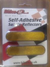 2 Stick On Reflectors Motorcycle Scooter Quad Amber