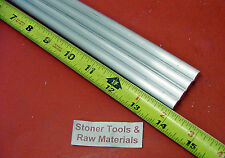 "4 Pieces 3/8"" ALUMINUM 6061 ROUND ROD 14"" long T6511 .375 Solid Lathe Bar Stock"