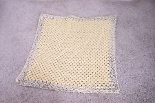 New Hand Crocheted Yellow, White & Green BABY Blanket So Soft Yarn Only 1 Made