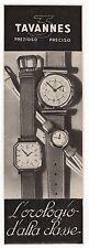 Pubblicità epoca vintage 1938 TAVANNES OROLOGIO SWATCH advert werbung reklame