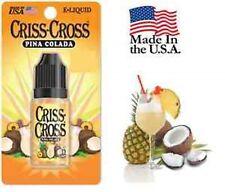 Criss Cross Liquid Juice Vapor Vape USA 10ML Pina Colada 24 mg -  pnc24mg