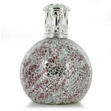 Promo Ashleigh & Burwood Small Glass Mosaic Silver Red Fragrance Lamp Home Gift