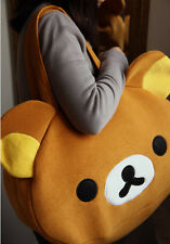 Rilakkuma San-X Cute Big Bag Handbag Bag Shoulder Bag Plush Relax Brown Bear