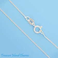 "16"" FINE CURB LINK 925 Solid Sterling Silver NECK CHAIN NECKLACE 0.5 mm USA MADE"