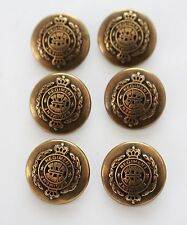 6 antique style antiquated bronze tone metal buttons herald blazer crown 17mm