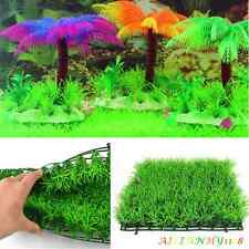 Green Plastic  Fish Tank Water Grass Plant Lawn Landscape Aquarium Ornament Deco