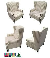 'Royal' 1.5 Seater Wing Chair_studded  Arms_Lounge Couch Sofa_Australian Made