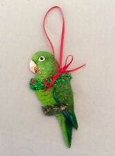 GREEN PARROTLET HOLIDAY CHRISTMAS TREE ORNAMENT