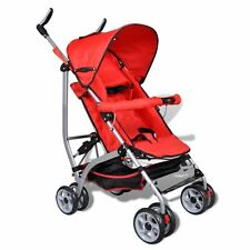 VidaXL Baby Buggy, Stroller with Canopy and Moveable in 5-Position, Red