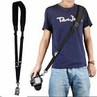 Black Quick Rapid Shoulder Sling Belt Neck Strap For Canon Nikon Camera DSLR SLR