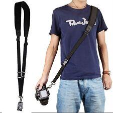 Black Quick Rapid Shoulder Sling Belt Neck Strap For Canon Nikon Camera DSLR SLR