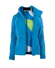 NWT Spyder Jacket + Fleece Women Ménage À Trois 3-in-1 Jacket Blue Coast Size 8