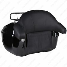 Vivid Black Tour Pack Classic Trunk Luggage Harley Sportster FXRT FXRD Softail