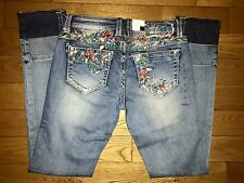 NWT GRACE IN LA ROSE GARDEN EMBROIDERED SKINNY JEANS Miss me Sz 30