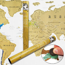 OZ M PERSONALISED WORLD TRAVEL SCRATCH MAP MARK OFF WHERE YOU HAVE BEEN