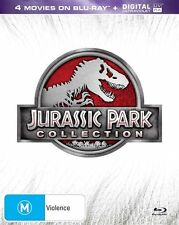 JURASSIC PARK COLLECTION - 4 DISC BLU-RAY BOX SET - LIKE NEW -