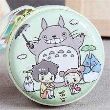 Women Totoro Light Green Tinplate Earphone Bag Coin Purse Wallet