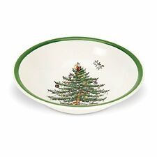 Spode Christmas Tree Cereal/Oatmeal Bowl, Set of 4, New, Free Shipping