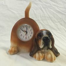 EASTER SALE!!  Critter Clock Bassett Hound Tabletop Wagging Tail Puppy Dog