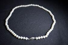 BN Bianco Reale Collana Di Perle D'acqua Dolce con fibbia in argento 925 * La vendita