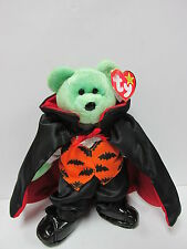 "Ty Beanie Baby  ""Kicks"" Bear in Ty Gear COUNT *SPECIALLY PRICED for Halloween*"