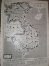 Photo article map of Indo China  1954