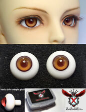 1/3 1/4 bjd 16mm bronze with burgundy high quality glass doll eyes dollfie #A-9