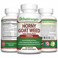 Premium Horny Goat Weed With Female and Male Enhancement Herbs - Complete Formul