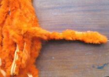 1m orange genuine real rabbit fur pelt strip trim fabric craft clothes hood cuff