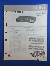 SONY ST-V77 TUNER SERVICE  MANUAL FACTORY ORIGINAL GOOD CONDITION