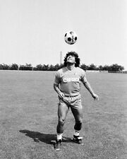 Maradona Napoli Traing BW 10x8 Photo