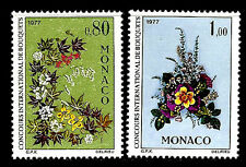 Monaco. International Flower Show, Monte Carlo. 1976. Scott 1047-1048. MNH