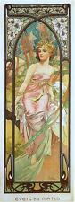 Alfons Mucha Art Nouveau ore del giorno stampa Notte svegliare sera riposo & freeby