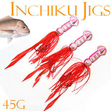 3x 45g Squid Inchiku Jig Micro Octo Jigs Fishing Lure Jigging Gomoku Snappers